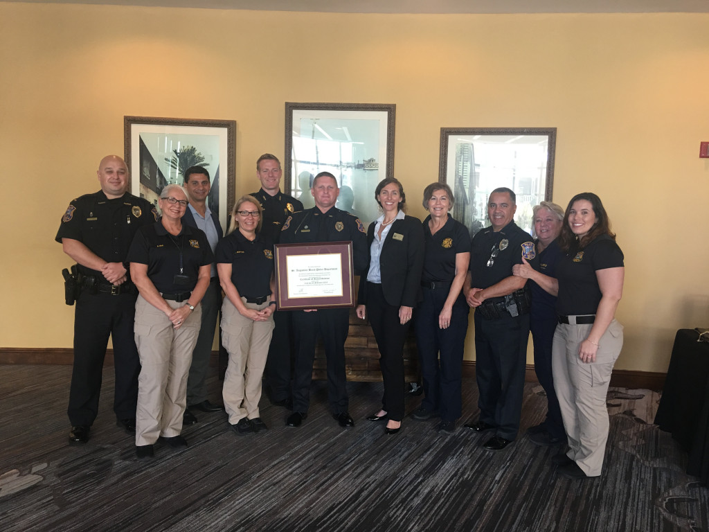 SABPD Officers receiving Law Enforcement Accreditation