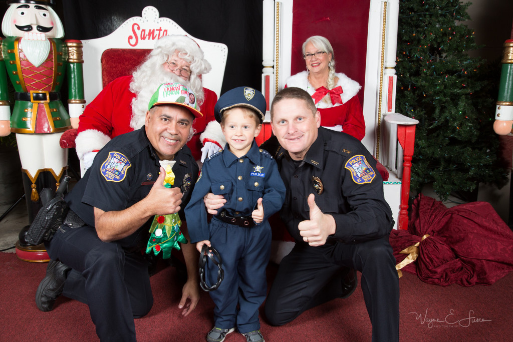 St Augustine Beach Police Officers with Santa
