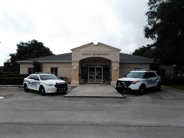 St Augustine Beach Police Precinct and Patrol Cars
